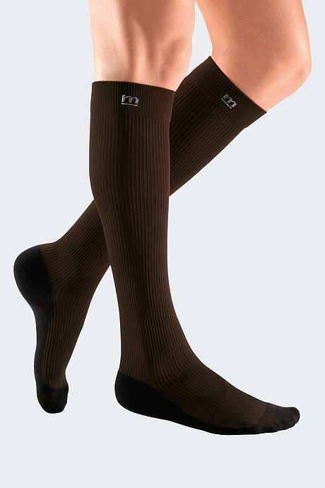 brown compression stocking for men