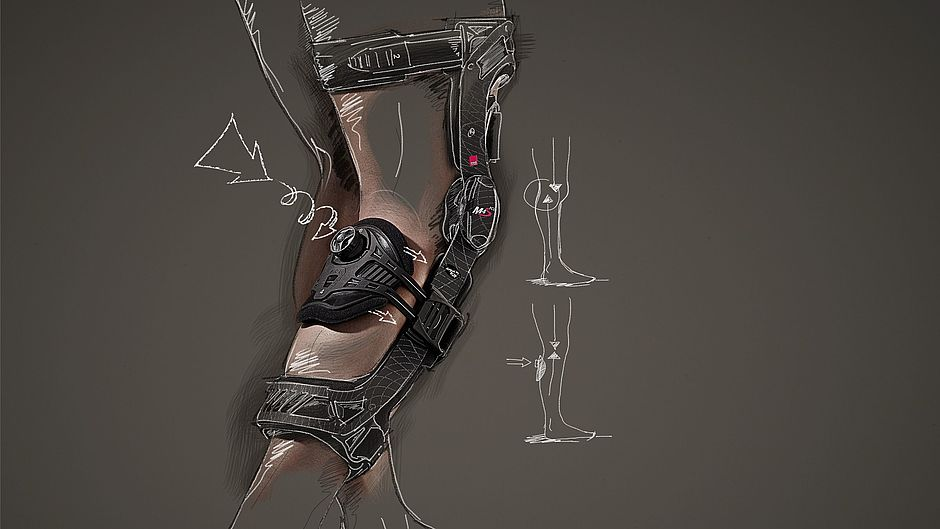 M.4s® PCL dynamic knee braces (partial) rupture of the posterior cruciate ligament illustration