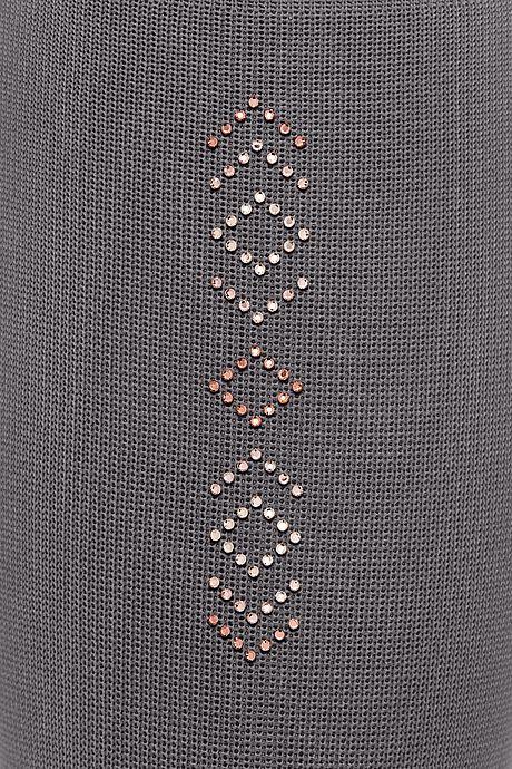 mediven 550 Flat knit Grey Swarovski Roségold